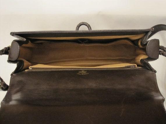 GUCCI vintage GG shoulder bag / 1970s Gucci brown… - image 9