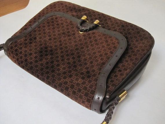 GUCCI vintage GG shoulder bag / 1970s Gucci brown… - image 6