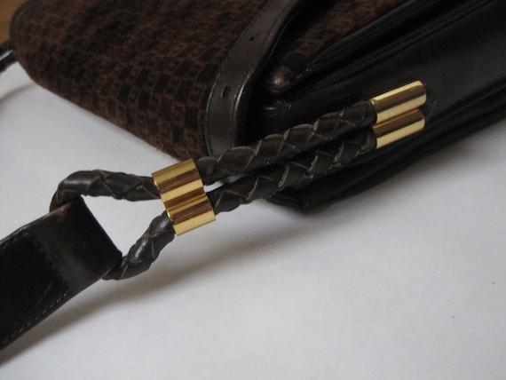 GUCCI vintage GG shoulder bag / 1970s Gucci brown… - image 4