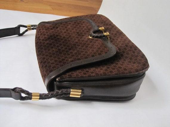 GUCCI vintage GG shoulder bag / 1970s Gucci brown… - image 3