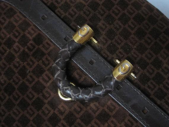GUCCI vintage GG shoulder bag / 1970s Gucci brown… - image 5