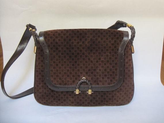 GUCCI vintage GG shoulder bag / 1970s Gucci brown… - image 10
