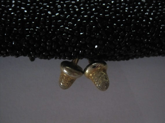 Gucci vintage black beaded evening clutch bag 196… - image 3