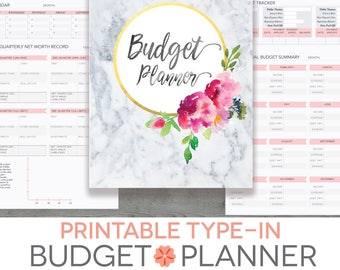 monthly budget spreadsheet household money tracker microsoft etsy