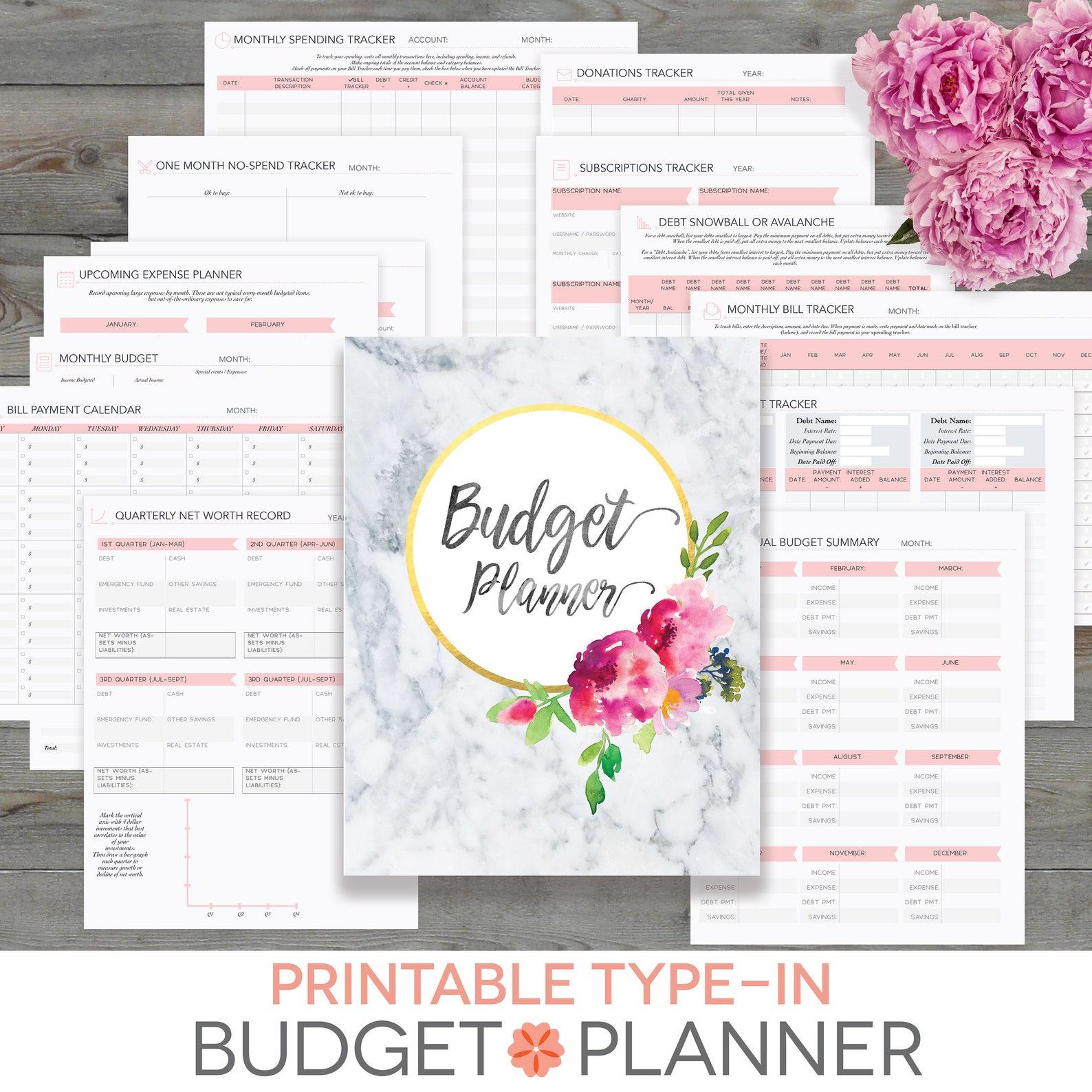 Perennial Planner Budget Planner