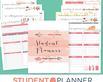 Study Planner Stickers College Student High School Class
