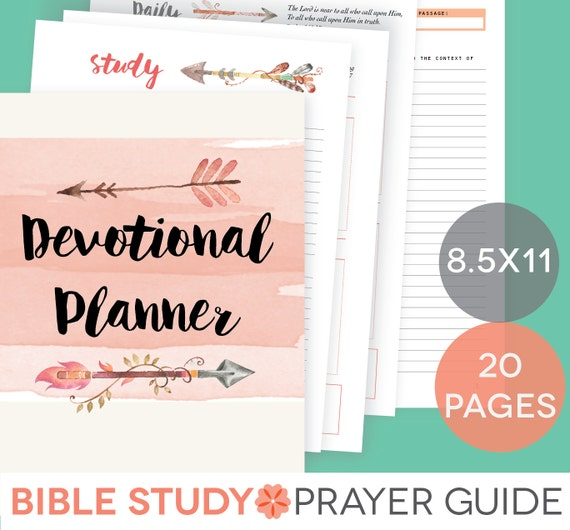 Daily Devotional Printable Set Weekly Bible Study Guide