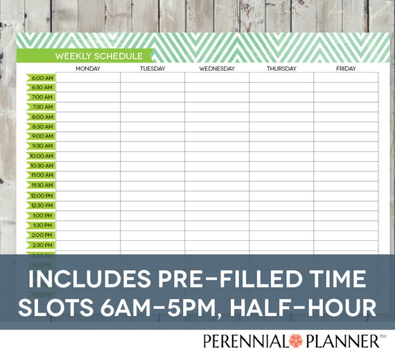 printable daily schedule by hour