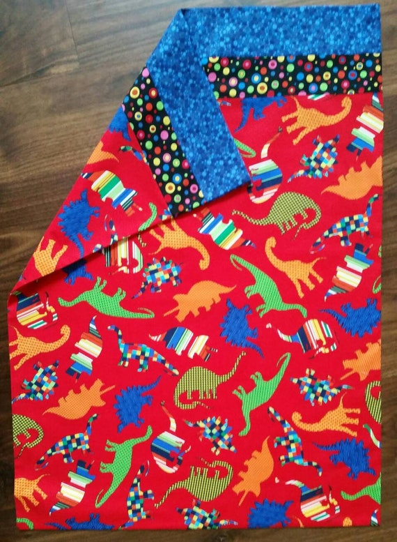 Dinosaur Standard Size Pillowcase Red Background With Etsy