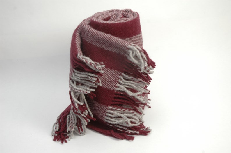 Redgrey throw blanket with fringes Wool throw blanket with fringes Wool blanket Pure wool throw 51/'/'X79/'/'130X200cm Perfect Christmas gift