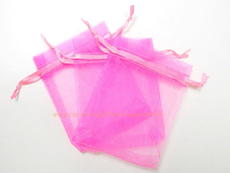 9006e1409 Organza rosa bolsas transparentes 50 bolsas de regalo de | Etsy