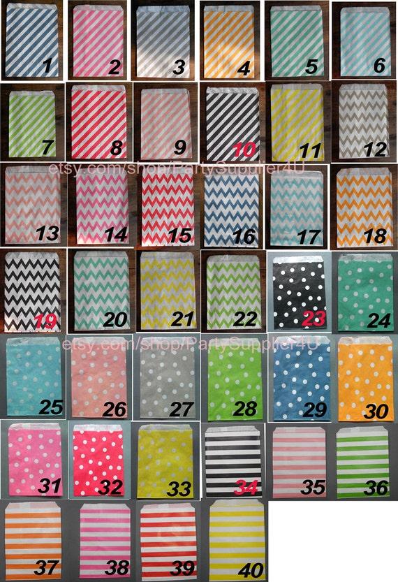 Favor Bags 50 Chevron Stripe Paper Party Gift