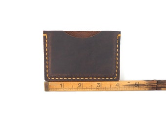 Handmade Leather Card Holder, Card Wallet, Card Case, Leather Card Case