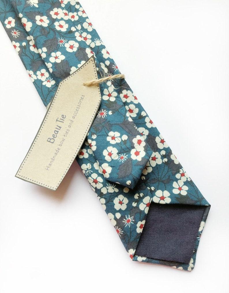 Floral tie Mens ties mens skinny tie floral skinny tie image 0