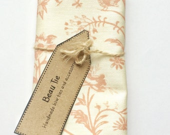 Mens pocket square, cream pocket square, floral pocket square, pink pockwt square, mens handkerchief