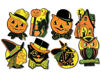 19492f4facf89 Beistle Vintage Style Halloween Cut Out Party Decorations