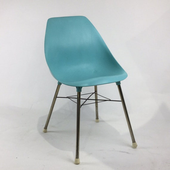 Molded plastic furniture Sculptural Image Pinterest Mid Century Modern Molded Plastic Chair In Aqua Turquoise Etsy