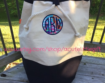 Lilly Pulitzer fabric monogrammed laundry bag Monogrammed laundry bag laundry duffel