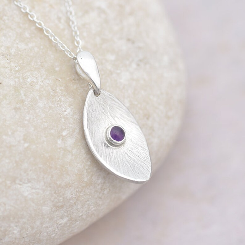 Silver and Amethyst Pendant Sterling Silver Pendant with image 0