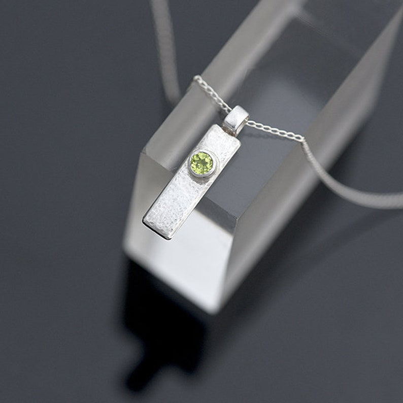 Silver and Peridot Pendant Sterling Silver Pendant with image 0