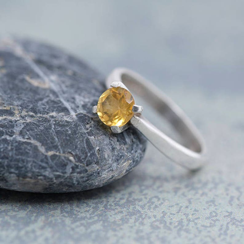 Citrine Ring Size N Sterling Silver Ring with Citrine image 0