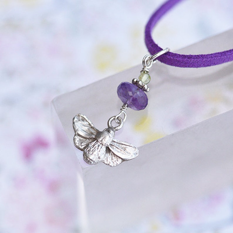 Silver Bee Pendant Bee Charm Pendant in Sterling Silver with image 0