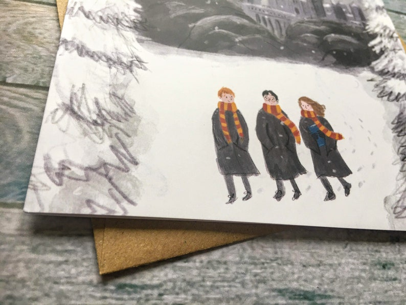 Lucy Dillamore Ice Skaters Greetings Card Etsy