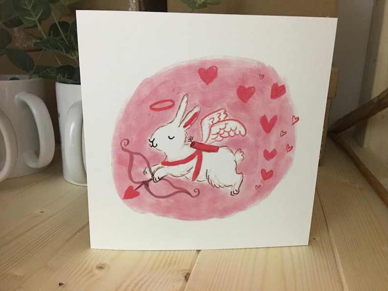 Lucy Dillamore Valentines Bunny Greetings Card Etsy