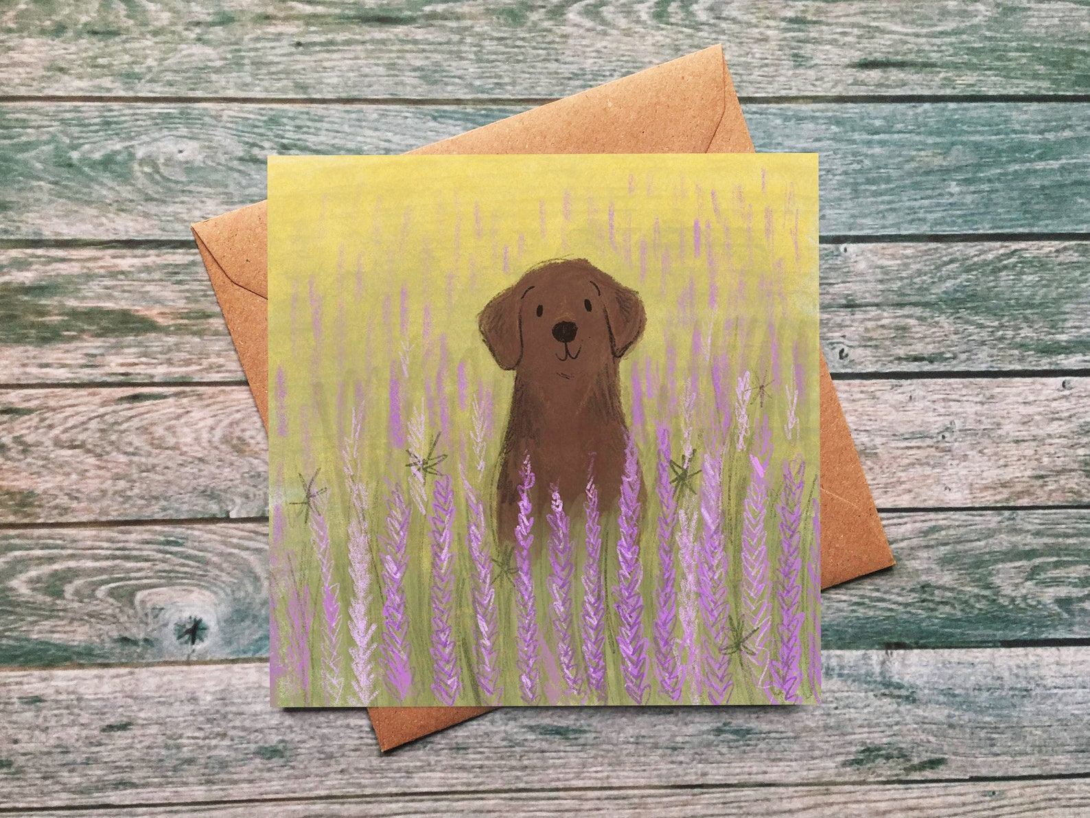 Lucy Dillamore Labrador Greetings Card Etsy