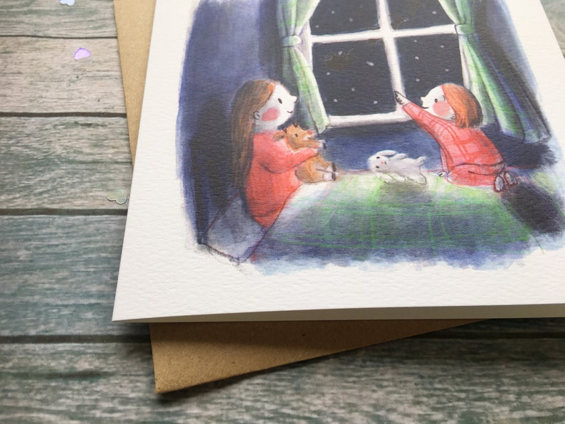 Lucy Dillamore Christmas Eve Greetings Card Etsy