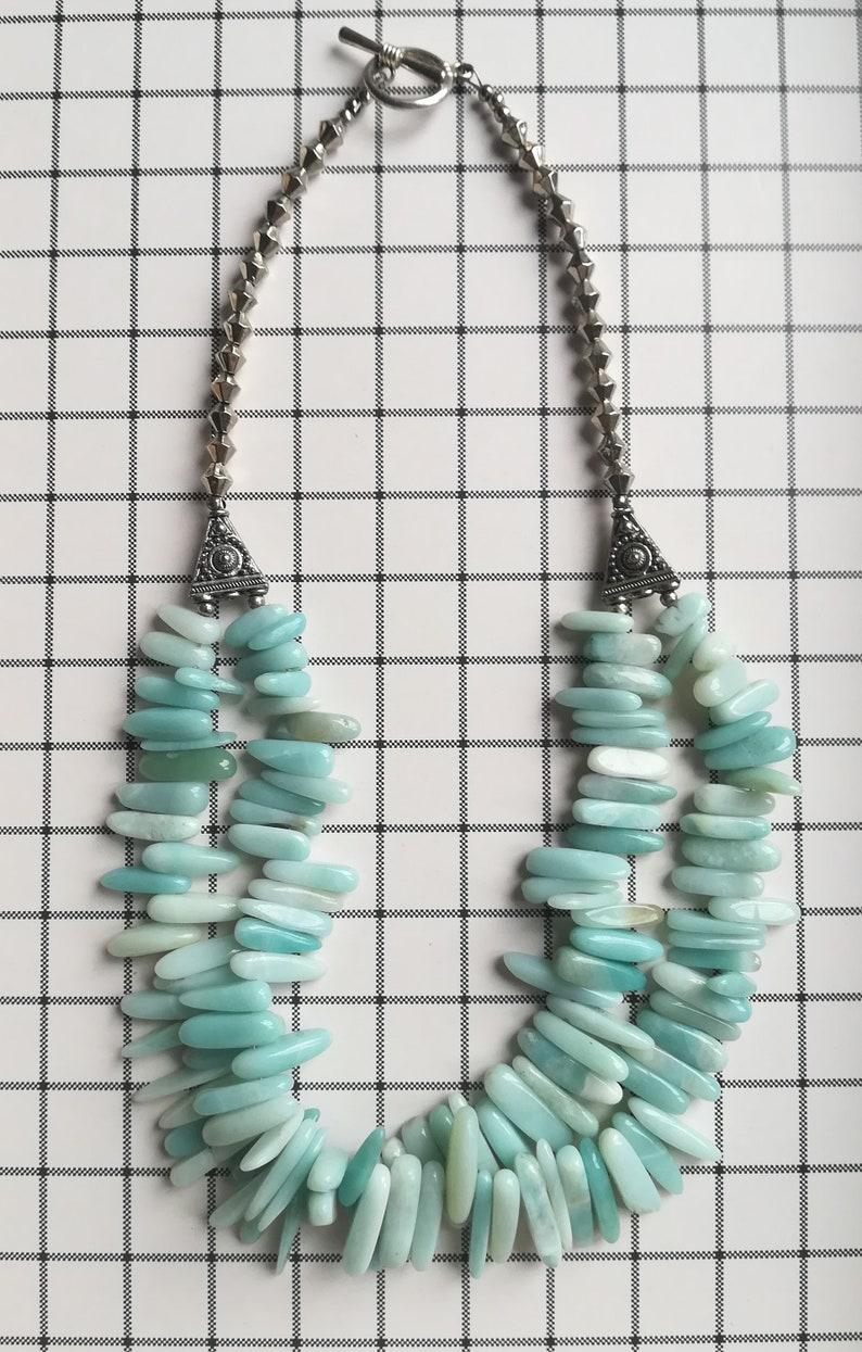 Amazonite Necklace Double strand.