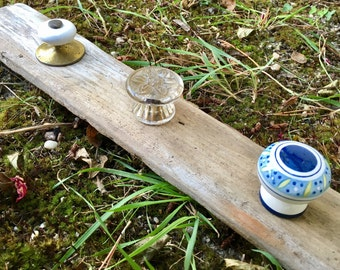 Driftwood and Repurposed Drawer Knob Coat Hanger/ Towel Rack/ Jewelry Organizer/ House Warming Gift