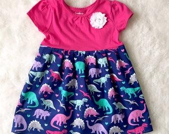 cdc920d5 Dinosaur dress girls**Dino dress**Jurassic park, T-rex, Roar**tomboy dress,  novelty dress, prehistoric**Custom made, size 2t, 3t, 4t, 5t