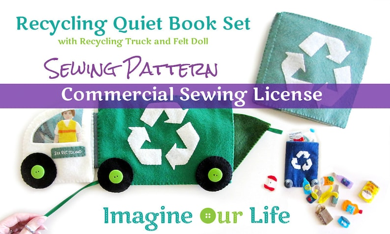 Recycling Quiet Book Set Digital Commercial License image 0