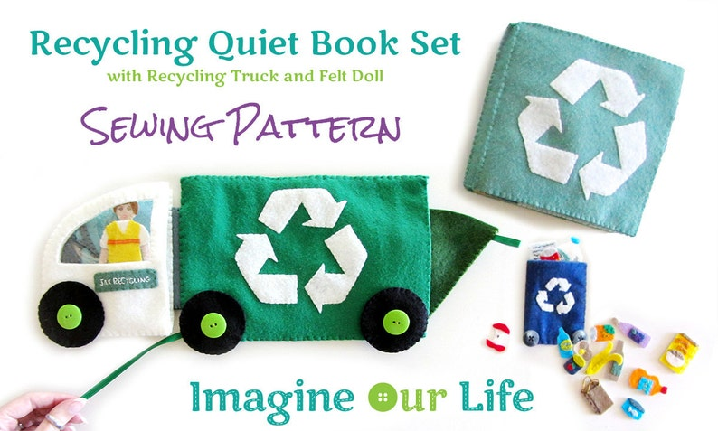 Recycling Quiet Book Set Digital Sewing Pattern image 0