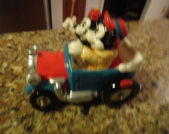 Vintage Walt Disney Character Mickey and Minnie Car Music Box