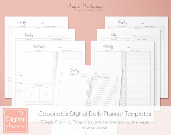 Goodnotes Planner Digital Planner Daily Planner Templates Etsy