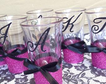 Personalized Glitter Shot Glasses (x1)