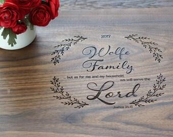 Custom Cutting Board Wedding Present