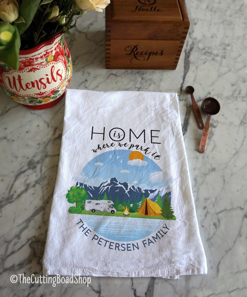 Kitchen towel for RV/'s RV camping tea towel