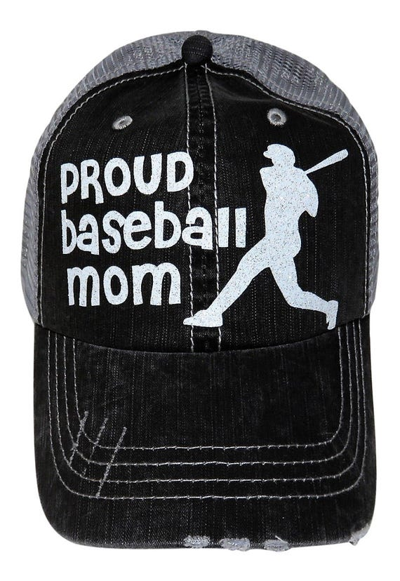 d1595164664 NEW White Glitter Proud Baseball Mom Distressed