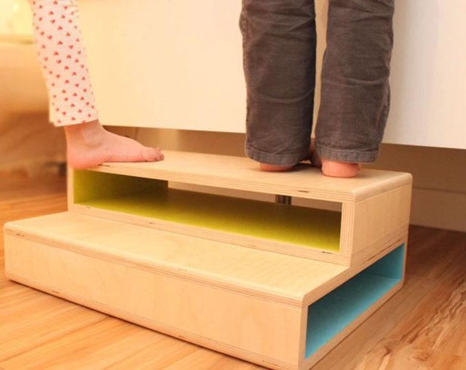 StepUp II - A Modern step stool designed for two kids