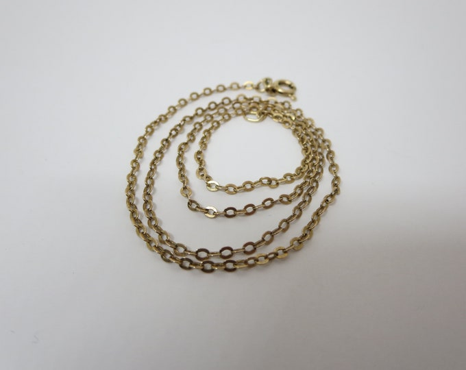 10K GOLD NECKLACE CHAIN~ Chain mesh~ Cable link chain~ Vintage unisex Jewelry~ Necklace chain~ Dainty fine chain~ Yellow gold~ Gift
