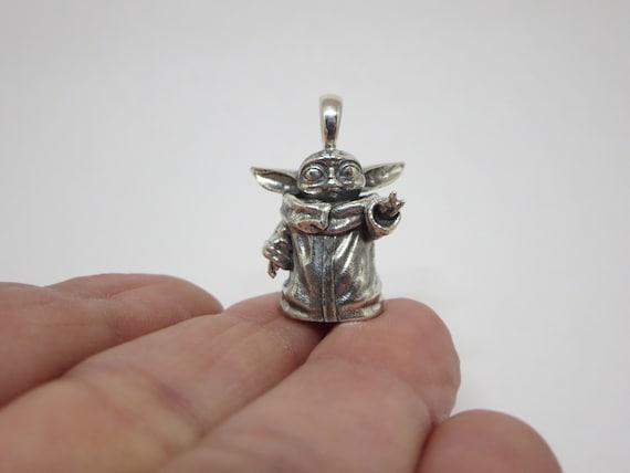 Design Stars War Character Multi Stone  Sterling silver Pendant Yoda
