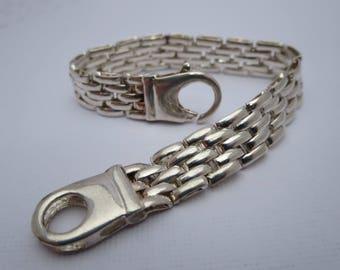 SILVER MESH BRACELET, Chain bracelet, Jewelry, Women's Bracelet, Men's Bracelet, Vintage bracelet, Braided, Steampunk, Gift