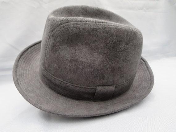 VINTAGE MEN S HAT Fedora felt hat Grey hat Fashion  75876a12672
