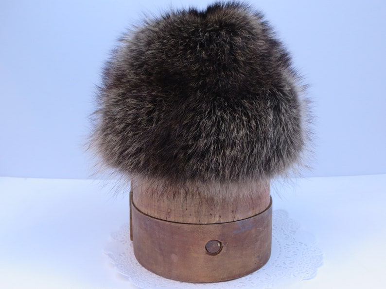 72592182dfe VINTAGE FUR HAT Raccoon fur hat Men s hat Women s
