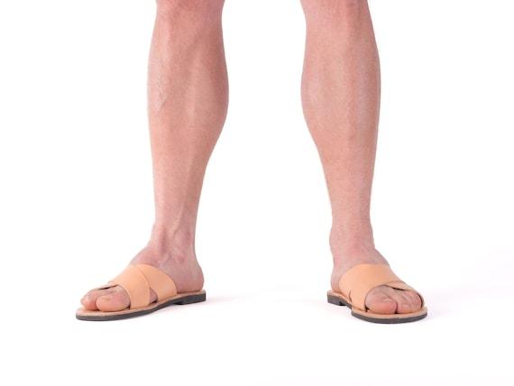 Mens brown sandals, greek men sandals, casual men shoes, men comfort shoes, father gift