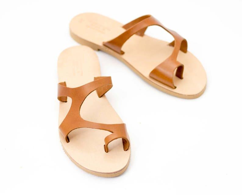 9024a61dd1573f Women slides Leather sandals Sandals Gladiator sandals