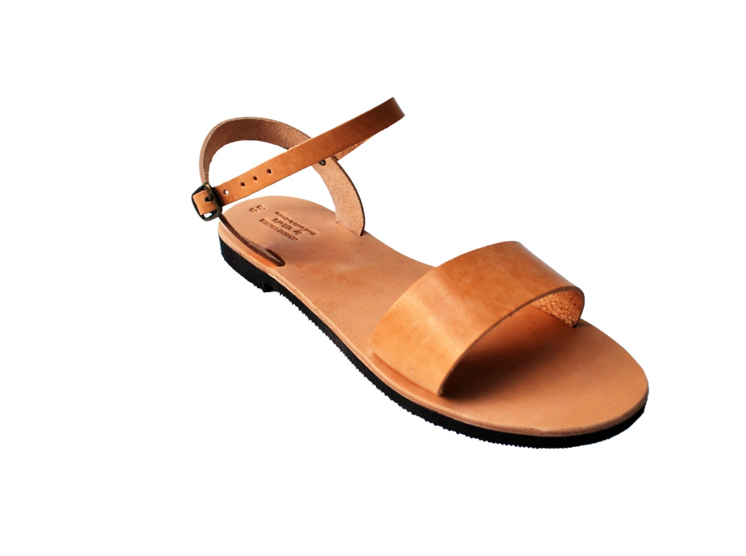 Summer Sandal Shoe Women's Sandals Natural Flats Brown Greek Handmade Women's Flats Natural e6e303